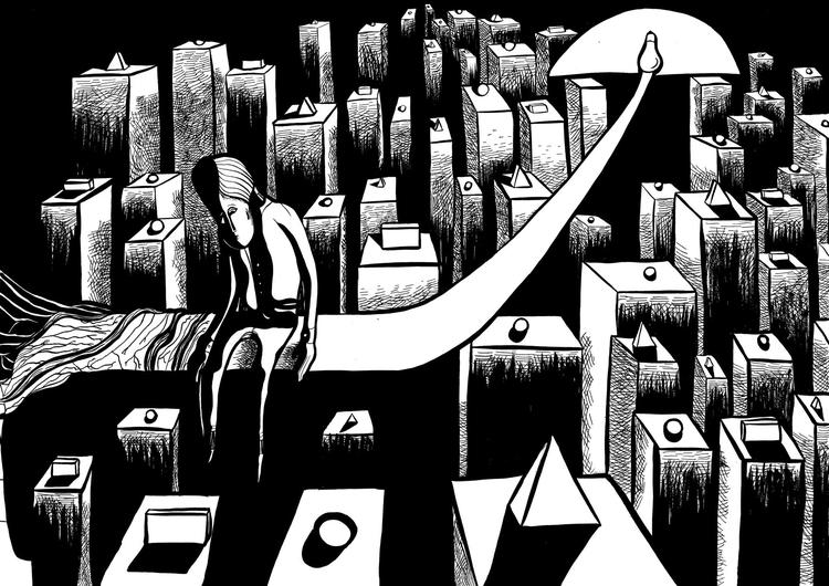 illustration - drawing, fullmoon - fagfedericaaglietti | ello