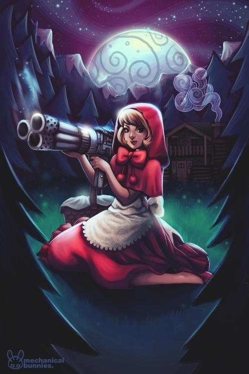 Bonnie - darkstalkers, bonnie, redridinghood - mechbunnies | ello
