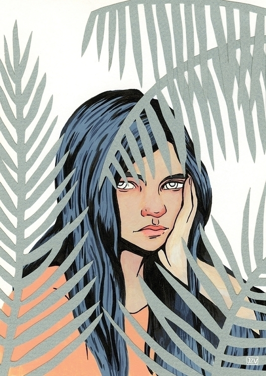 Tropical Wilderness - girl, portrait - jeezvanilla | ello