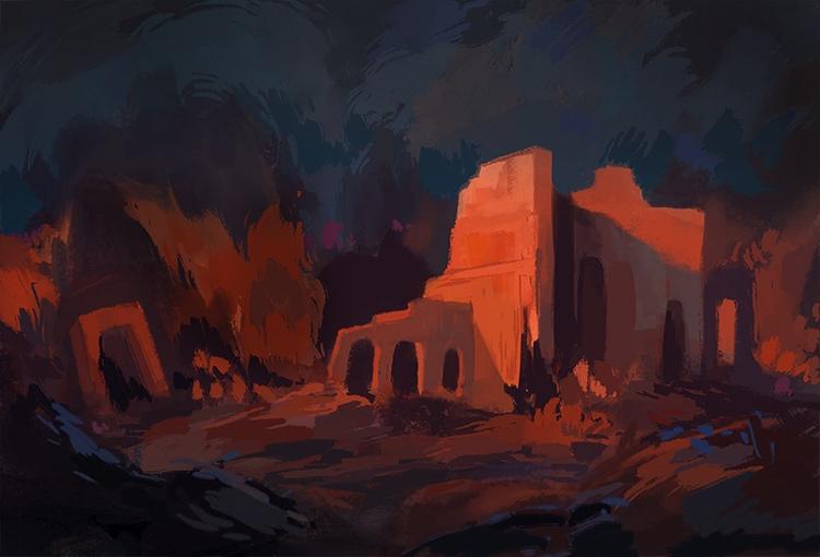 Ruins - ruins, illustration, environment - nicolexu-8498 | ello