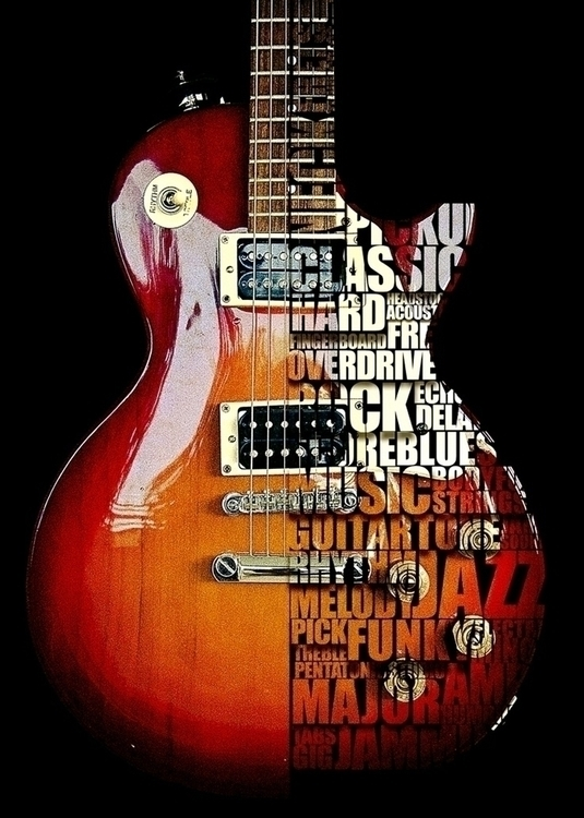 guitar - typography, rock, blues - artisan3 | ello