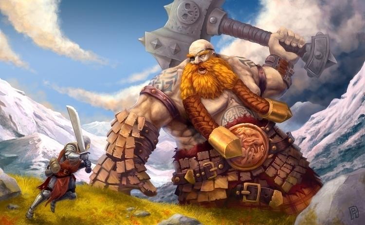BANG - illustration, giant, knight - boris_rogozin | ello