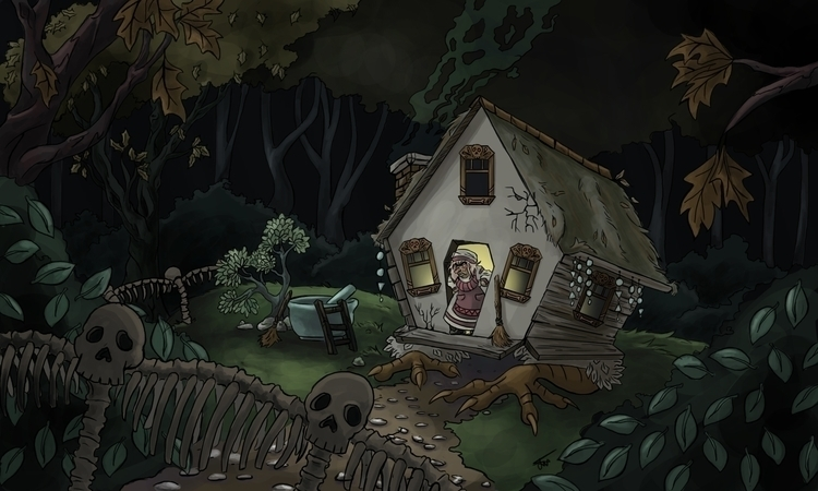 Baba House - illustration, environment - artbyjenisse | ello