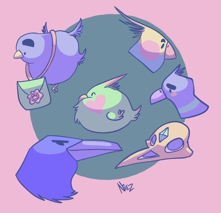 Burbs - birds, illustration, characterdesign - dustlight_ | ello