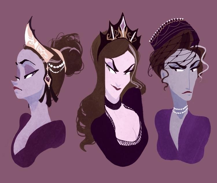 countesses - characterdesign, photoshop - dykah | ello