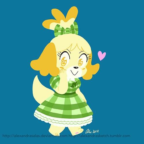 Isabelle dress wears Kyary N3DS - alexandrasketch   ello