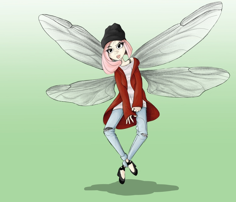 Casual Pixie - pixie, girl, wings - griffnix | ello