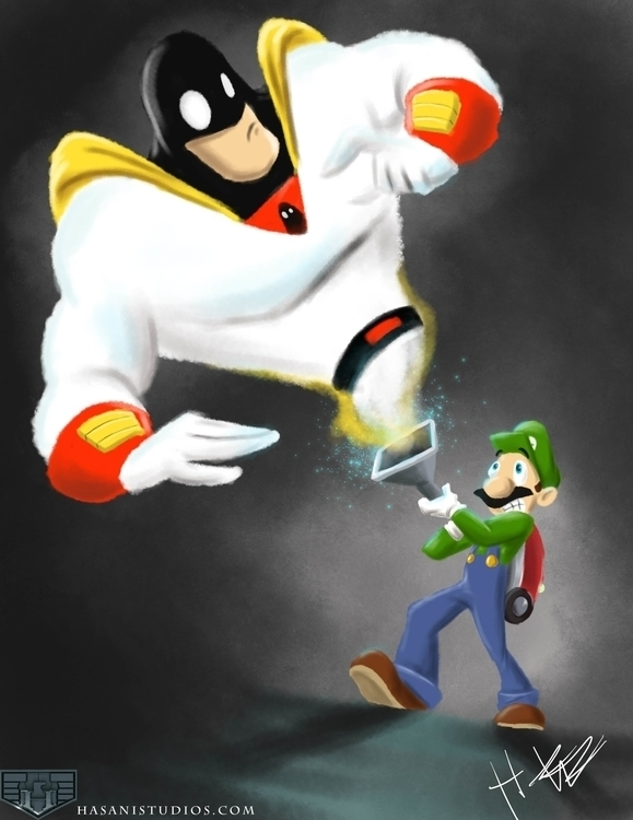 Luigi meets space ghost - nintendo - hasaniwalker   ello