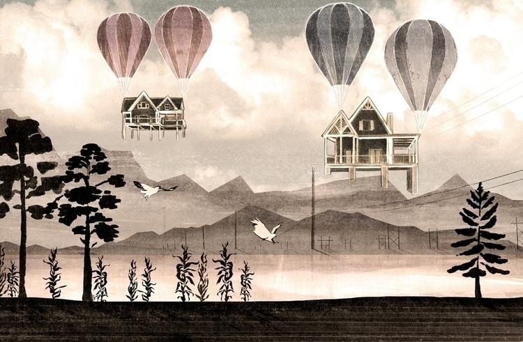 Mountain Life - mountains, trees - mathildaholmqvist | ello