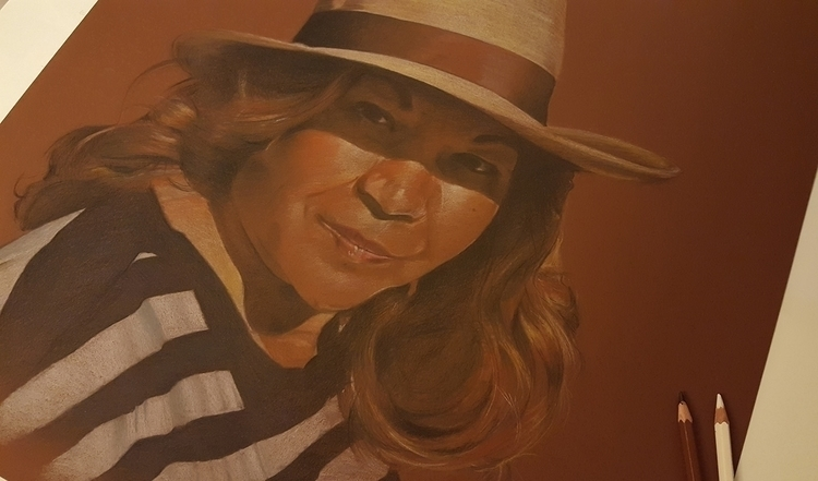 Portrait Woman   Colored pencil - fallydesign   ello