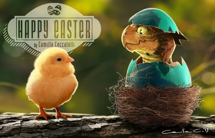 Easter Dragon Character Design - camillaceccatelli | ello