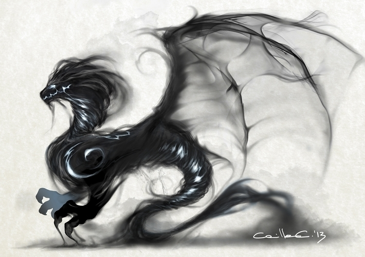 Smoke Dragon Character Design - illustration - camillaceccatelli | ello