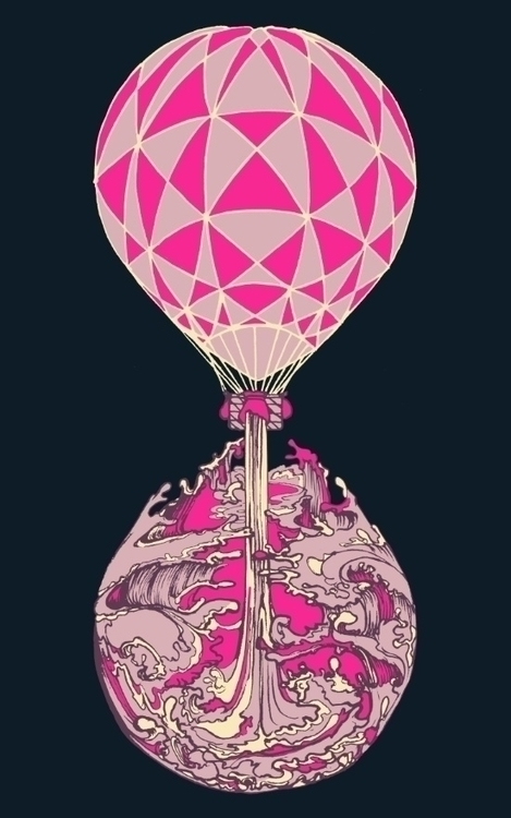 Lost Time - illustration, hotairballoon - amyconsolo | ello