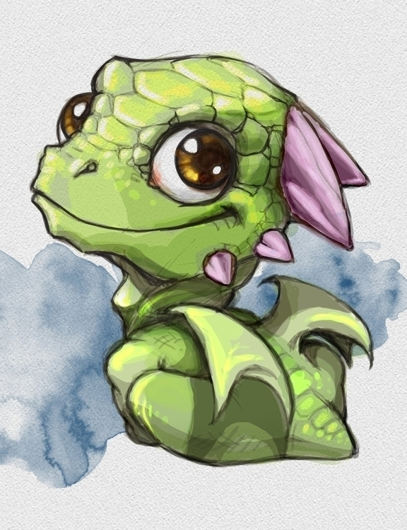 Cute Dragon Character Design - illustration - camillaceccatelli | ello
