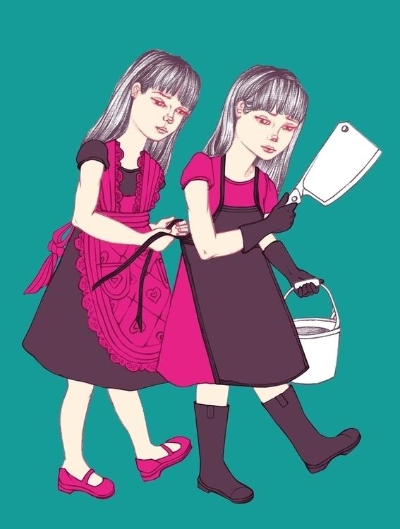Good 2015 - twins, illustration - amyconsolo | ello