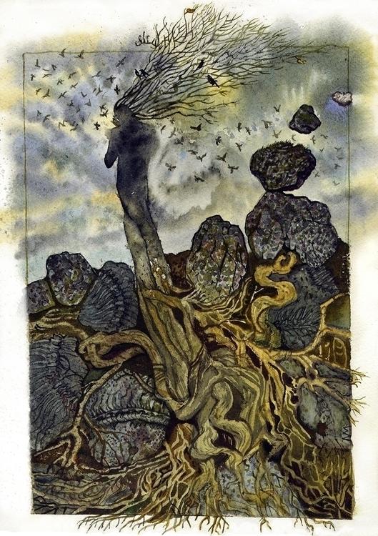 Cry Silence. watercolor artwork - naktisart | ello