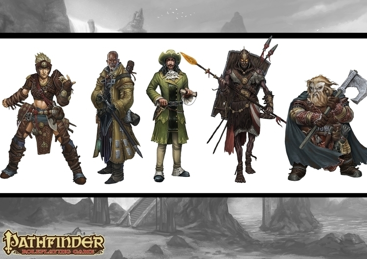 pathfinder, rpg, characterdesign - bluedice | ello