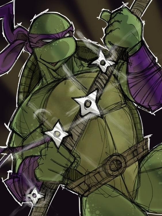 donatello - ipad - sketch, tmnt - kevinisaac | ello