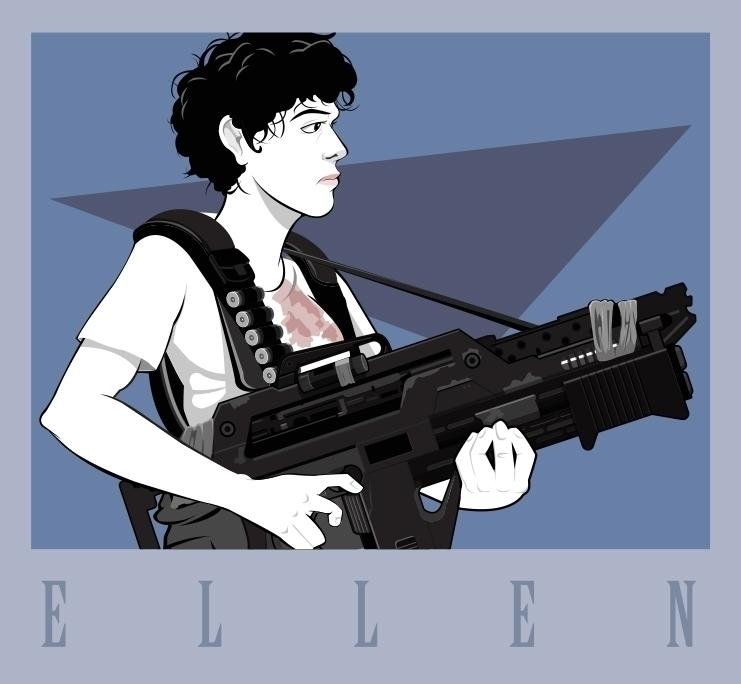 Ellen - Patrick Nagel homage - illustration - khalidrobertson   ello