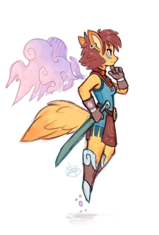 Foxy Warrior - luigil-2352 | ello