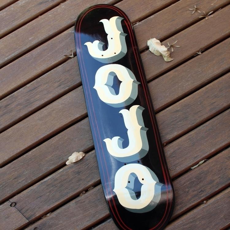 Hand painted skate deck - lettering - gibara | ello