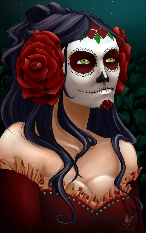 Catrina - illustration, digitalart - alesa-7823 | ello