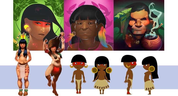illustration, characterdesign - manuelaquinoart | ello