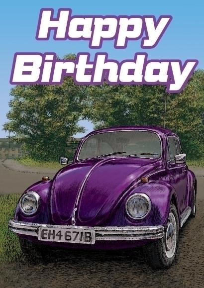 Volkswagen Beetle birthday card - dannybriggs | ello