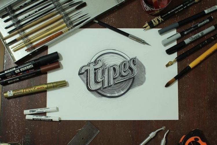 Cover art expo event - lettering - gibara | ello
