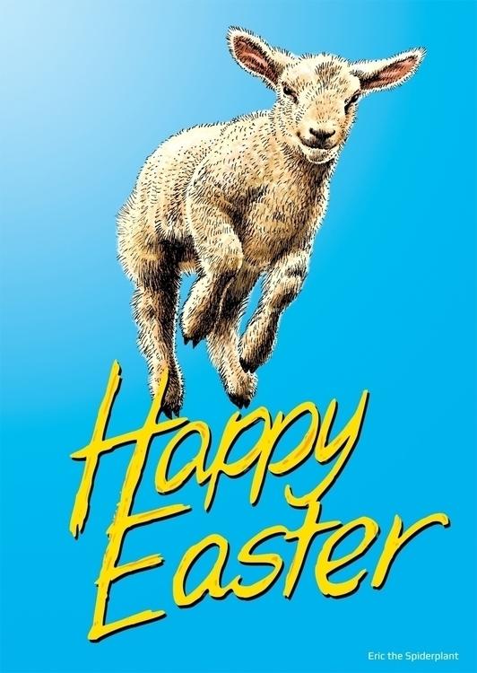 Spring lamb Easter card - #illustration - dannybriggs | ello