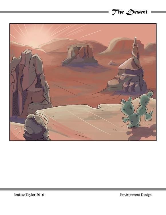 environment, desert - artbyjenisse | ello