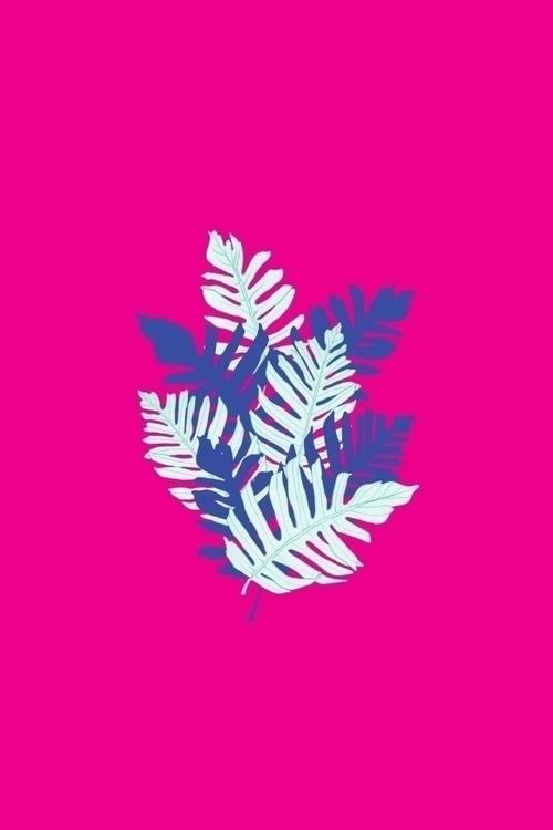 Tropical Leaves Pink - tropical - amyconsolo | ello