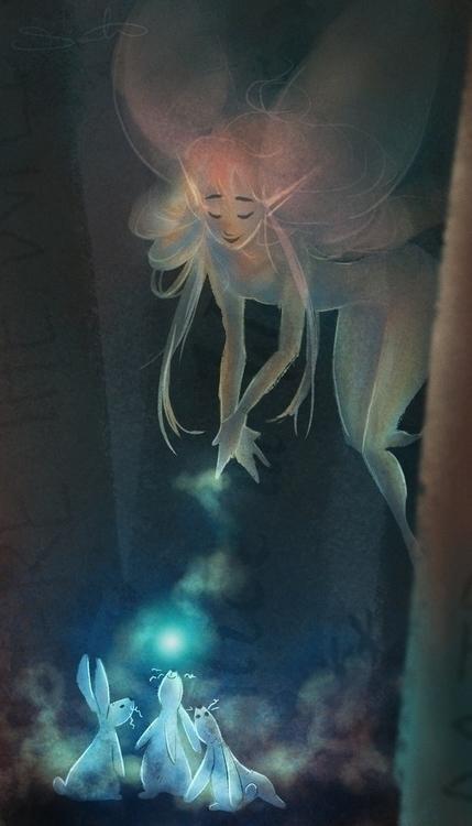 Dust bunnies - sketch_dailies, fairy - samanthadoodles | ello
