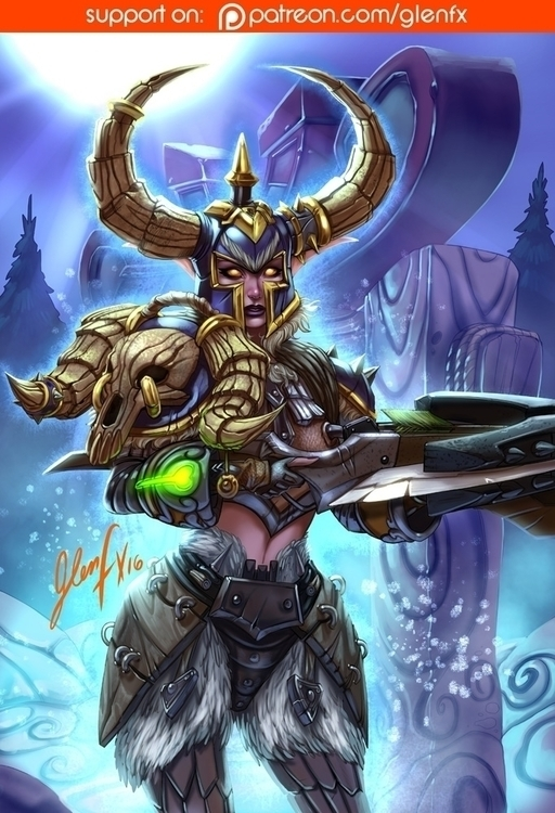 World Warcraft player character - glenfx | ello