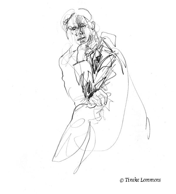 3-minute portrait2 - portrait, sketch - tineke-1461 | ello