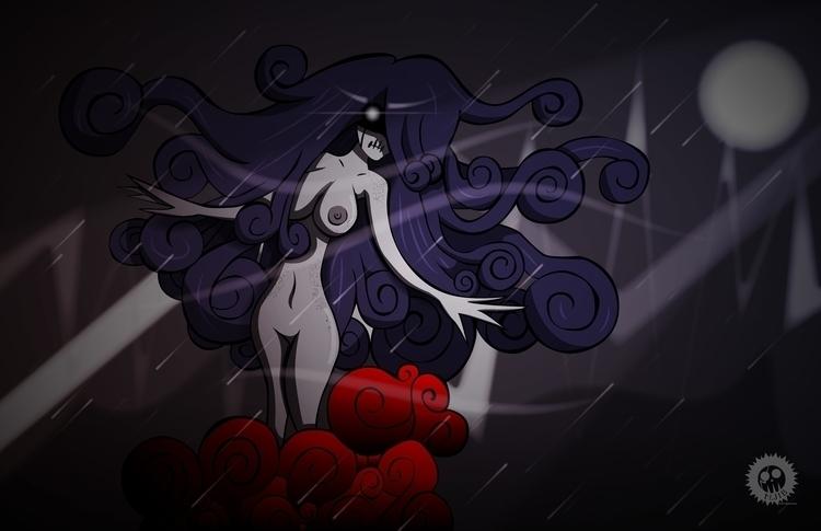 naked, ghost, woman, dead, illustration - mjib | ello