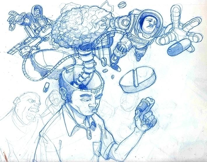 pills - drawing, sketchbook - khalidrobertson | ello