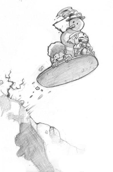 Christmas sketch - characterdesign - khalidrobertson   ello