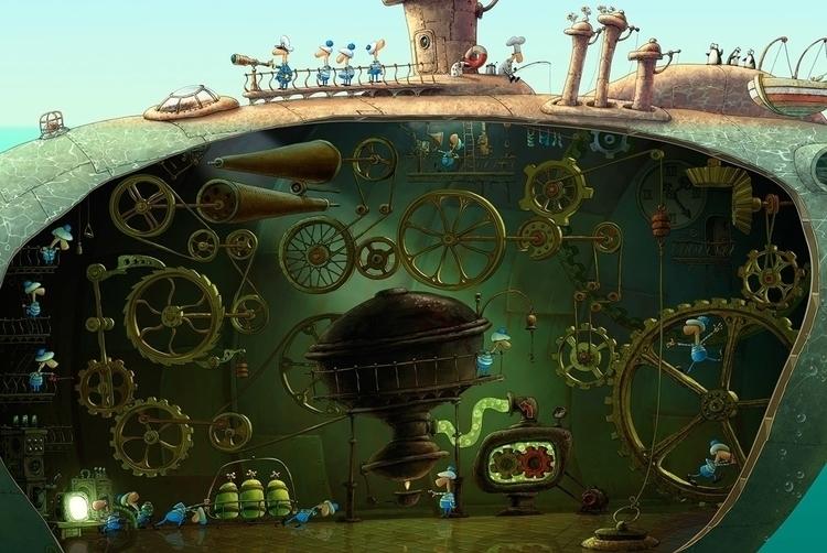 sea green - illustration, characterdesign - yustas | ello