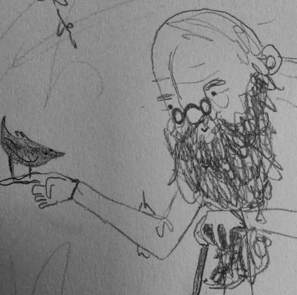 friends - beard, bird, glasses, illustration - finlaysonillustration | ello