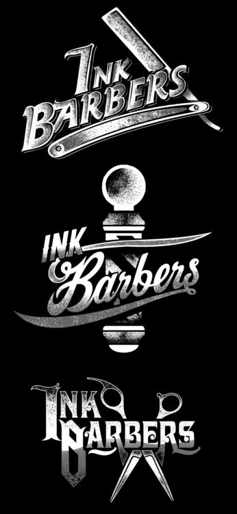 INK BARBERS - typography, mattdesign - mattaguinaldo | ello
