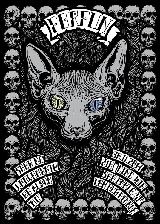 Gig poster Brazilian band ForFu - ibelcic | ello