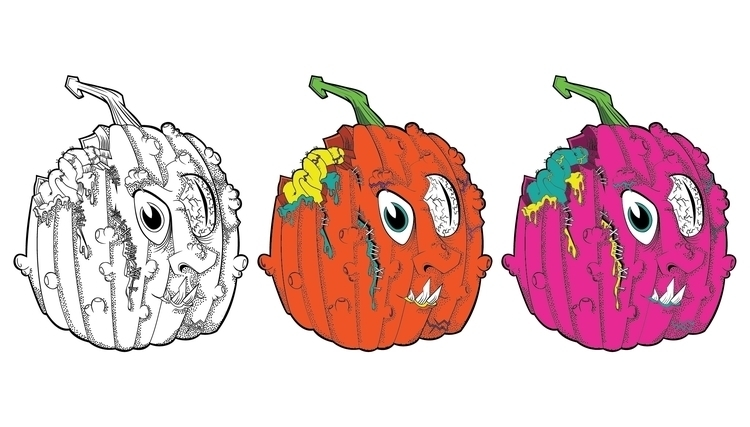 Radiant Pumpkins - illustration - mp-1845 | ello