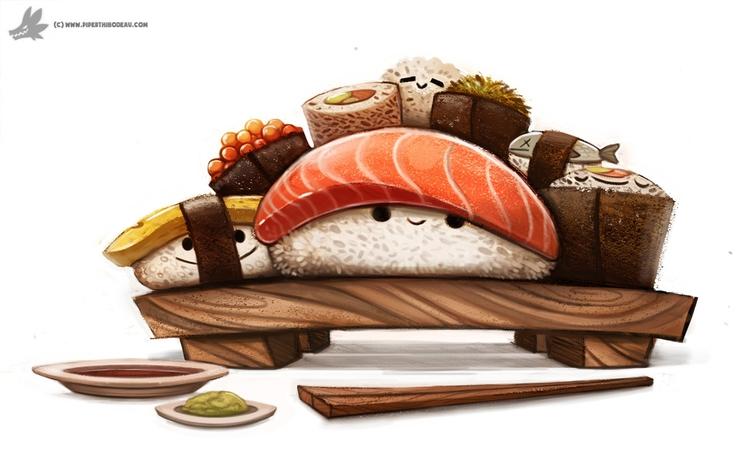 Day 830. Sushi Party - piperthibodeau | ello