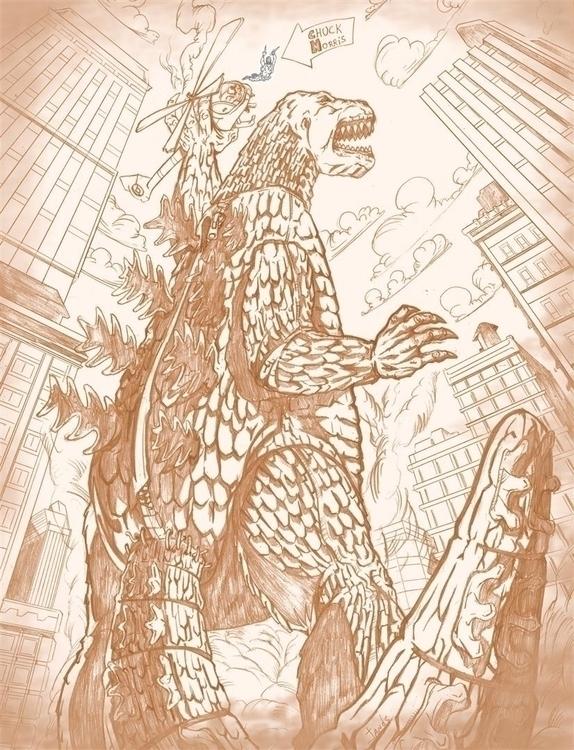 Godzilla - godzilla, pencil, 2d - janderson-7361 | ello