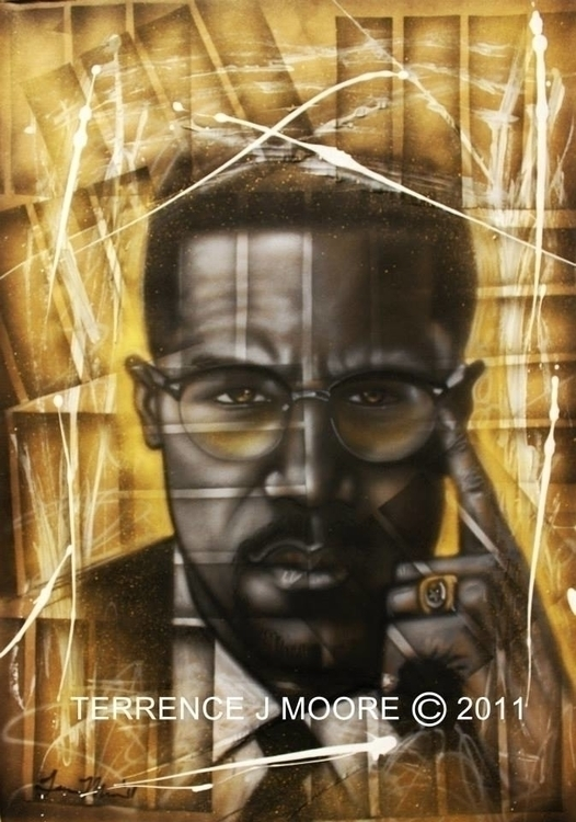 malcolmx, painting - tjmcollection | ello