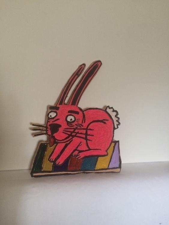 nice rabbit cut mdf - bunny, woodblock - davewhelanart | ello