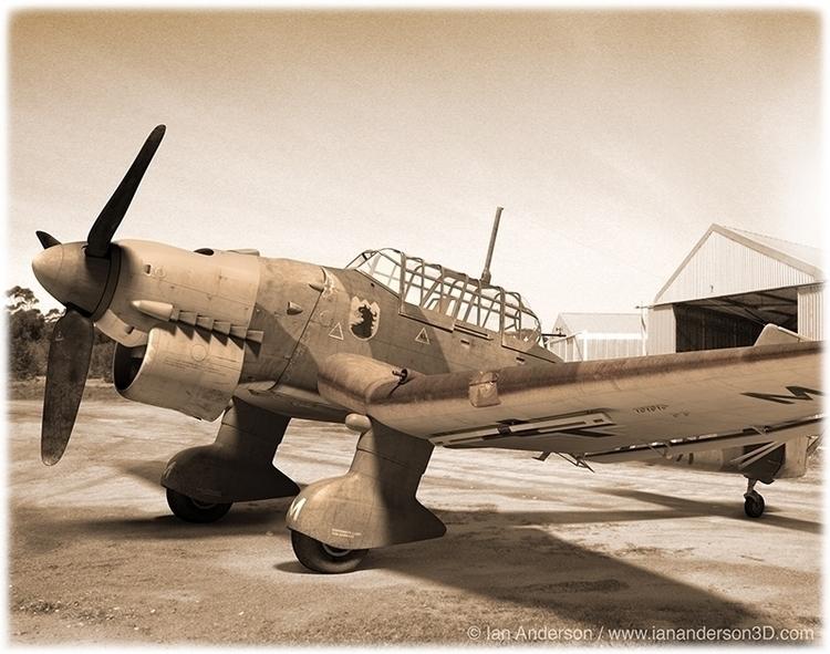 Ju-87 Stuka - stuka, 3d, iananderson3d - iancredible01 | ello