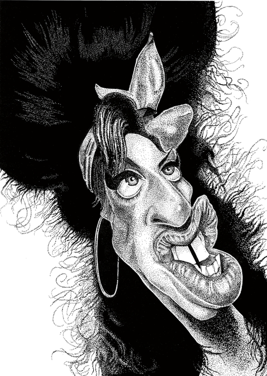 Stipple Art - Caricature Amy Wi - rayjay-6615 | ello