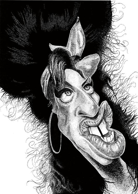 Stipple Art - Caricature Amy Wi - rayjay-6615 | ello